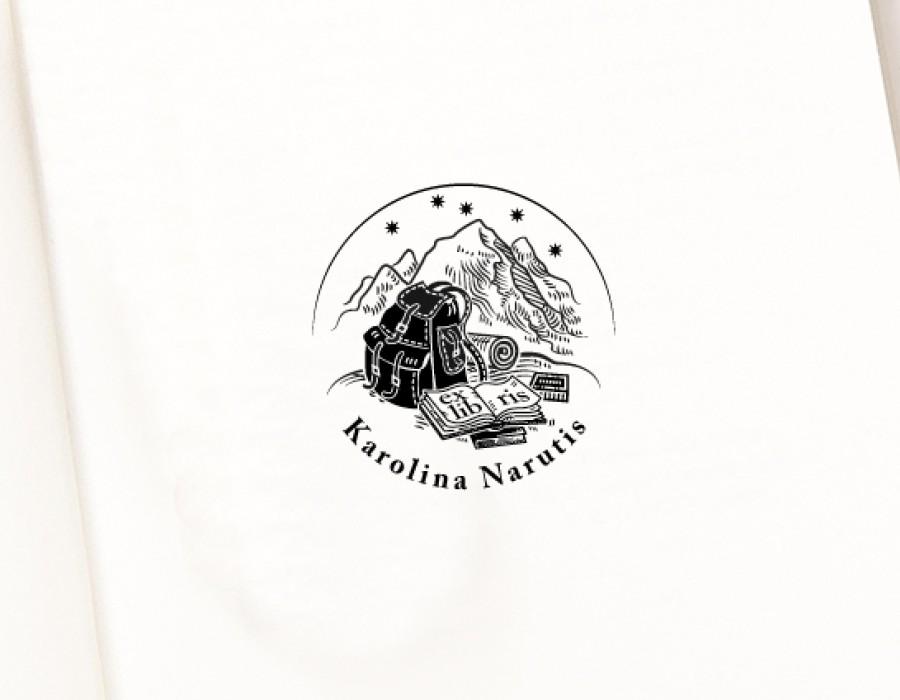 Ex libris Antspaudas Kelionės (E-5058)